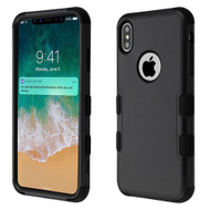 Military Grade Certified TUFF Hybrid Armor Case for iPhone XS Max - Black 251