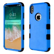 Military Grade Certified TUFF Hybrid Armor Case for iPhone XS Max - Blue
