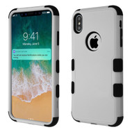 Military Grade Certified TUFF Hybrid Armor Case for iPhone XS Max - Grey