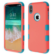 Military Grade Certified TUFF Hybrid Armor Case for iPhone XS Max - Pink Teal