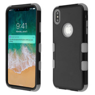 Military Grade Certified TUFF Hybrid Armor Case for iPhone XS Max - Black Grey