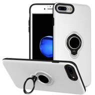 Smart Power Bank Battery Case 5000mAh with Ring Holder for iPhone 8 / 7 / 6S / 6 - White