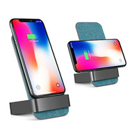 *SALE* 10W Fast Qi Wireless Charger Stand Pad with Dual Coils Charging Transmitter - Blue