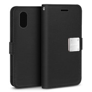 Essential Leather Wallet Case for iPhone XR - Black