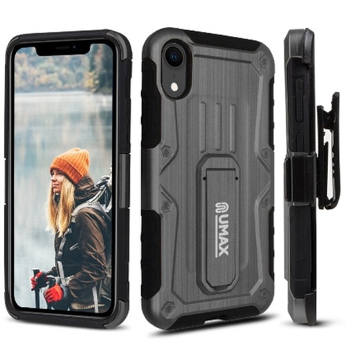 Heavy Duty Dual Layer Hybrid Armor Case With Holster And