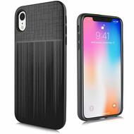 Double Texture Anti-Shock Hybrid Protection Case for iPhone XR - Black