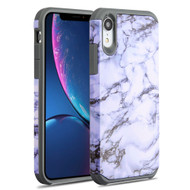 Hybrid Multi-Layer Armor Case for iPhone XR - Marble White