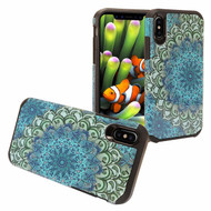 Hybrid Multi-Layer Armor Case for iPhone XR - Blue Flower