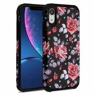 Hybrid Multi-Layer Armor Case for iPhone XR - Pink Rose