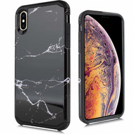 Hybrid Multi-Layer Armor Case for iPhone XR - Marble Black