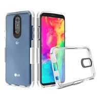 Transparent Protective Bumper Case for LG Q7 Plus - White