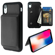Pocket Wallet Case with Stand for iPhone XR - Black