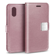 Essential Leather Wallet Case for iPhone XR - Pink
