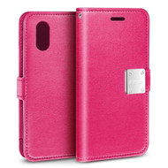 Essential Leather Wallet Case for iPhone XR - Hot Pink