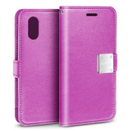 Essential Leather Wallet Case for iPhone XR - Purple