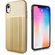 Double Texture Anti-Shock Hybrid Protection Case for iPhone XR - Gold