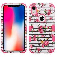 Military Grade Certified TUFF Hybrid Armor Case for iPhone XR - Pink Fresh Roses