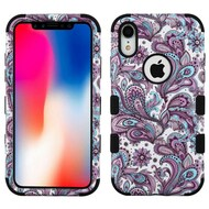 Military Grade Certified TUFF Hybrid Armor Case for iPhone XR - Persian Paisley