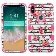Military Grade Certified TUFF Hybrid Armor Case for iPhone XS Max - Pink Fresh Rose