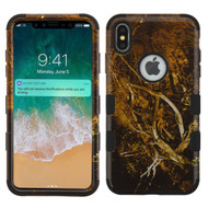 Military Grade Certified TUFF Hybrid Armor Case for iPhone XS Max - Tree Camouflage