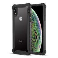 Vispro Series Tough Transparent Case for iPhone XR - Black