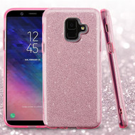 Full Glitter Hybrid Protective Case for Samsung Galaxy A6 (2018) - Pink