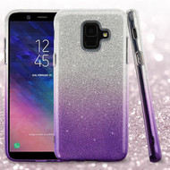 Full Glitter Hybrid Protective Case for Samsung Galaxy A6 (2018) - Gradient Purple