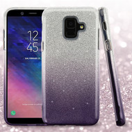 Full Glitter Hybrid Protective Case for Samsung Galaxy A6 (2018) - Gradient Black