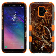 Military Grade Certified TUFF Hybrid Armor Case for Samsung Galaxy A6 (2018) - Tree Camouflage Orange