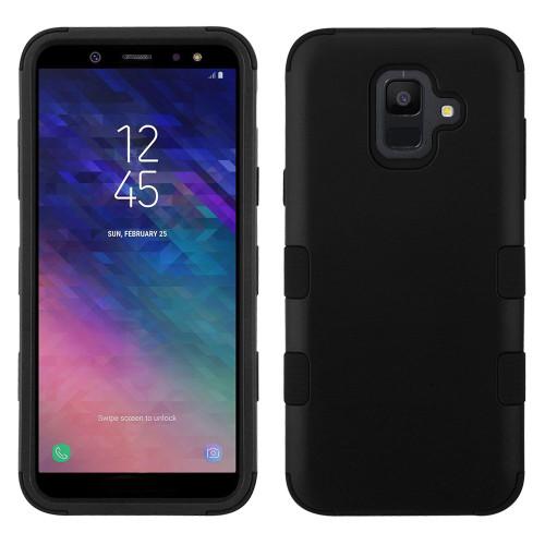 Military Grade Certified TUFF Hybrid Armor Case for Samsung Galaxy A6 (2018) - Black