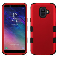 Military Grade Certified TUFF Hybrid Armor Case for Samsung Galaxy A6 (2018) - Red