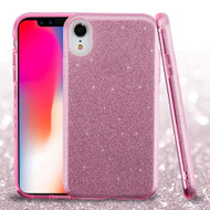 Full Glitter Hybrid Protective Case for iPhone XR - Pink