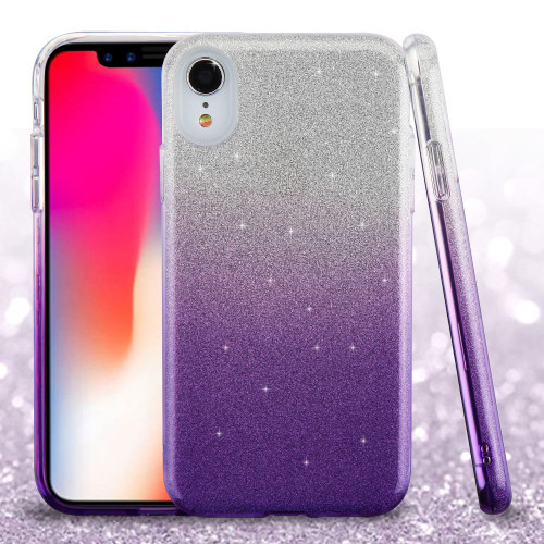 Full Glitter Hybrid Protective Case For Iphone Xr
