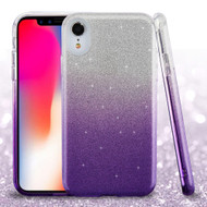 Full Glitter Hybrid Protective Case for iPhone XR - Gradient Purple