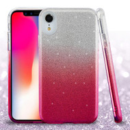 Full Glitter Hybrid Protective Case for iPhone XR - Gradient Pink