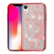 Electroplating Quicksand Glitter Transparent Case for iPhone XR - Maple Vine