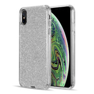Glitter Edition Ultimate Deluxe Hybrid Case for iPhone XS Max - Silver