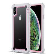 Vispro Series Tough Transparent Case for iPhone XS Max - Pink White