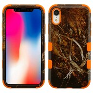 Military Grade Certified TUFF Hybrid Armor Case for iPhone XR - Tree Camouflage Orange