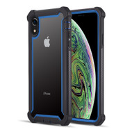 Vispro Series Tough Transparent Case for iPhone XR - Black Blue
