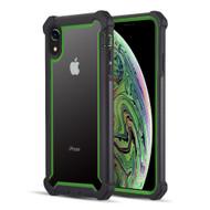 Vispro Series Tough Transparent Case for iPhone XR - Black Green