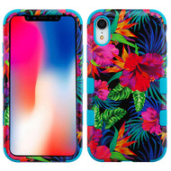 Military Grade Certified TUFF Hybrid Armor Case for iPhone XR - Electric Hibiscus