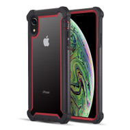 Vispro Series Tough Transparent Case for iPhone XR - Black Red