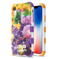 Military Grade Certified TUFF Hybrid Armor Case for iPhone XR - Chrysanthemum Field