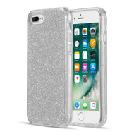 Glitter Edition Ultimate Deluxe Hybrid Case for iPhone 8 Plus / 7 Plus / 6S Plus / 6 Plus - Silver