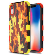 Military Grade Certified TUFF Hybrid Armor Case for iPhone XR - Fall Camouflage