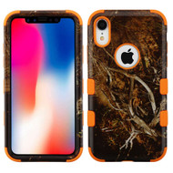 Military Grade Certified TUFF Hybrid Armor Case for iPhone XR - Tree Camouflage Orange 011