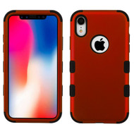 Military Grade Certified TUFF Hybrid Armor Case for iPhone XR - Red 006