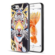 Art Pop Series 3D Embossed Printing Hybrid Case for iPhone 8 / 7 - Tiger