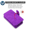 3-IN-1 Luxury Coach Series Leather Wallet with Detachable Magnetic Case for iPhone XS / X - Purple